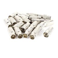 TV PAL Male to PAL Female Coaxial Connector Adapter Silver Tone 20pcs