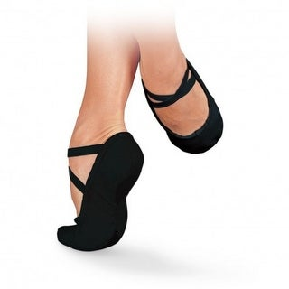 Sansha Women Black Canvas Pro 1 Original Split Sole Ballet Slippers 2-17 Womens