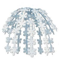 Club Pack of 12 Silver Snowflake Cascade Christmas Decorations 24""