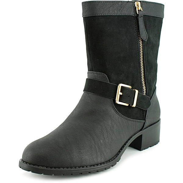 Charles By Charles David Janelle Women Round Toe Synthetic Black Mid Calf Boot