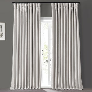 Link to Exclusive Fabrics Blackout Extra Wide Vintage Textured Faux Dupioni Single Curtain Panel Similar Items in As Is