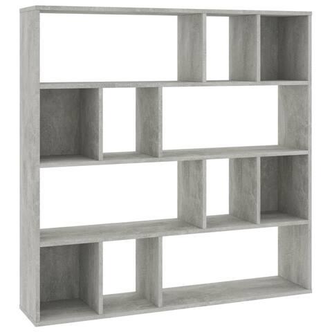 "vidaXL Room Divider/Book Cabinet Concrete Gray 43.3""x9.4""x43.3"""