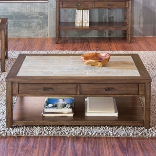Link to Mesa Valley Tobacco Ceramic Tile Top Cocktail Table Similar Items in Living Room Furniture
