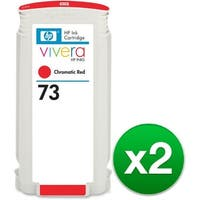 HP 73 130-ml Chromatic Red DesignJet Ink Cartridge (2-Pack)