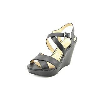 American Rag Rachey1 Women Open Toe Synthetic Black Platform Sandal