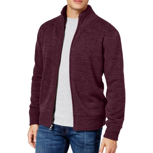 Shop Weatherproof Mens Medium Full Zip Mock-Neck Sweater - Free Shipping On  Orders Over  45 - Overstock - 22311761 e40fcb775