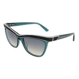 Swarovski SK0075/S 96P Transparent Dark Green Butterfly sunglasses - transparent dark green