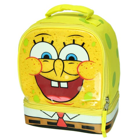 Spongebob Squarepants Dual Compartment Lunch Box Tote