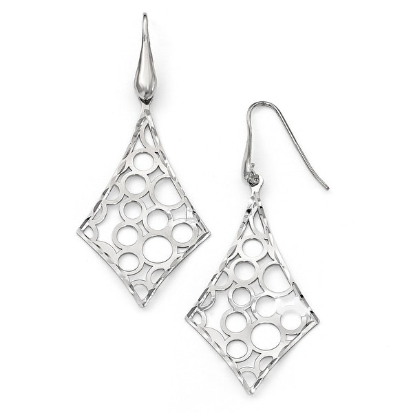 Italian Sterling Silver Rhodium Plated Earrings