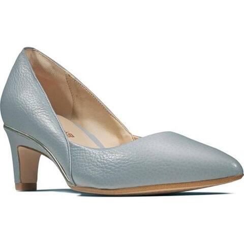 7ab4fd4bb329 Clarks Women s Ellis Rose Pump Grey Blue Leather