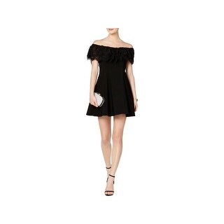 Betsy & Adam Womens Petites Cocktail Dress Ruffled Lace (3 options available)