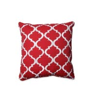 """25"""" Moroccan Dreams Radish Red and Shell White Decorative Floor Pillow"""