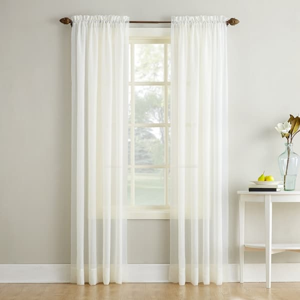 No 918 Erica Sheer Crushed Voile Single Curtain Panel Overstock 12361200