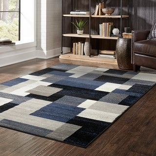 Link to Porch & Den Tulane Geometric Block Area Rug Similar Items in Transitional Rugs