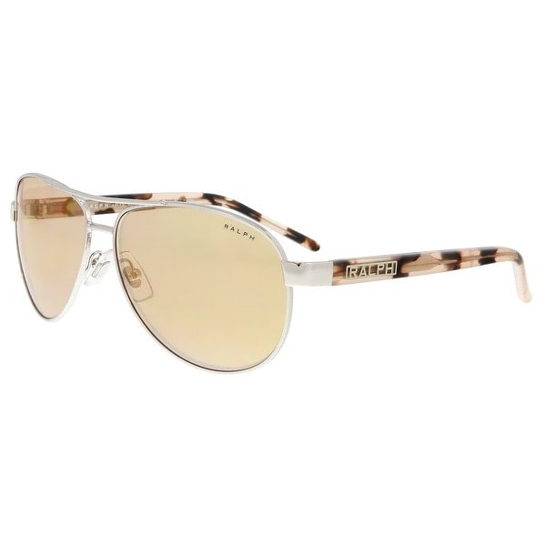 d4a8f114be5 Shop Ralph Lauren RA4004 900R1 Silver Aviator Sunglasses - 59-13-130 ...