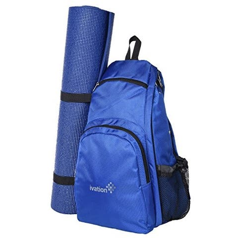 Ivation Yoga Mat Backpack Multi Purpose Crossbody Sling for Gym, Beach, Hiking or Travel