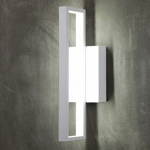 12W LED Square Wall Sconce 6000K Pure White - 2PACK