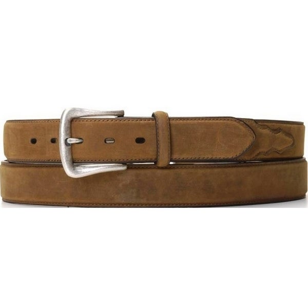 Nocona Western Belt Mens Leather Smooth Overlay Coffee