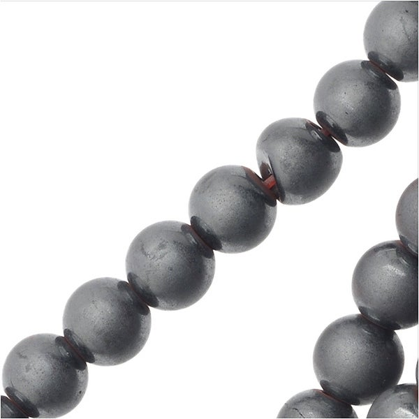 Hematite Gemstone Beads, 4mm Round,16 Inch Strand, Matte Gray