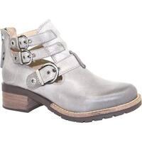 Dromedaris Women's Kelsy Boot Grey Soft Waxy Leather