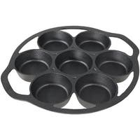 Sunnydaze Cast Iron Drop Biscuit Pan Pre Seasoned 11 Inches 7 Mold