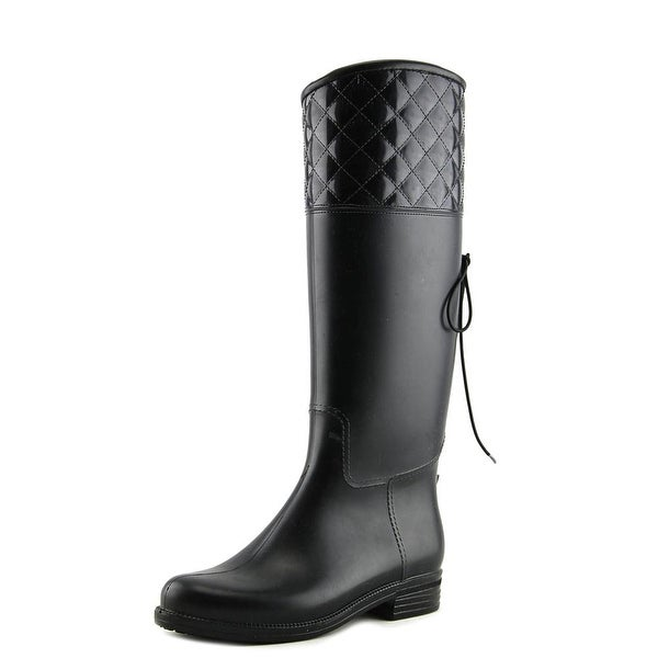 Dav Victoria Adjustable Women Round Toe Synthetic Black Knee High Boot