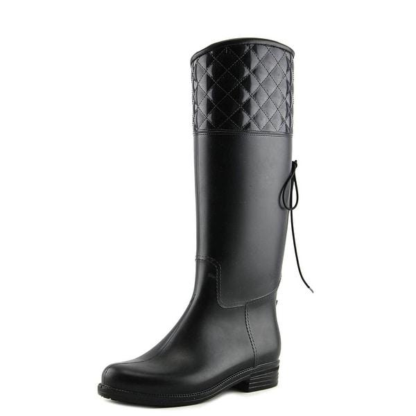 Dav Victoria Adjustable Women Round Toe Synthetic Black Knee High Boot