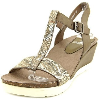 Corkys Fast Open Toe Synthetic Wedge Sandal