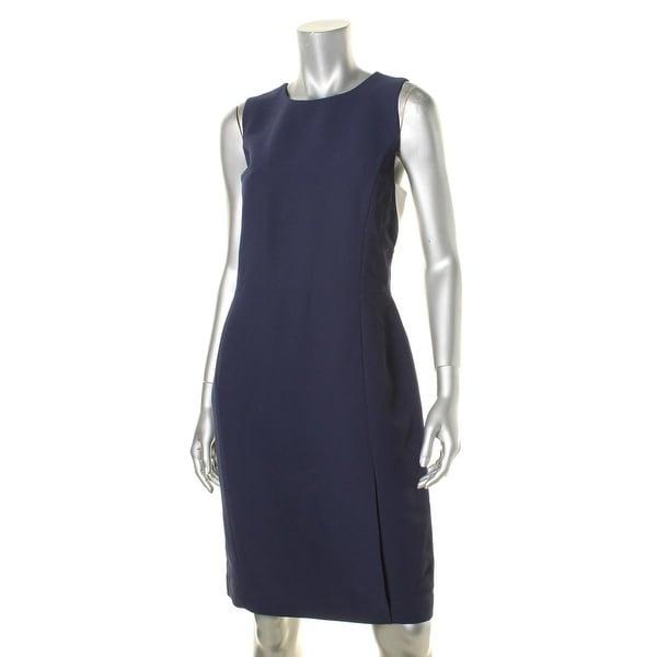 Lauren Ralph Lauren Womens Casual Dress Two Tone Sheath