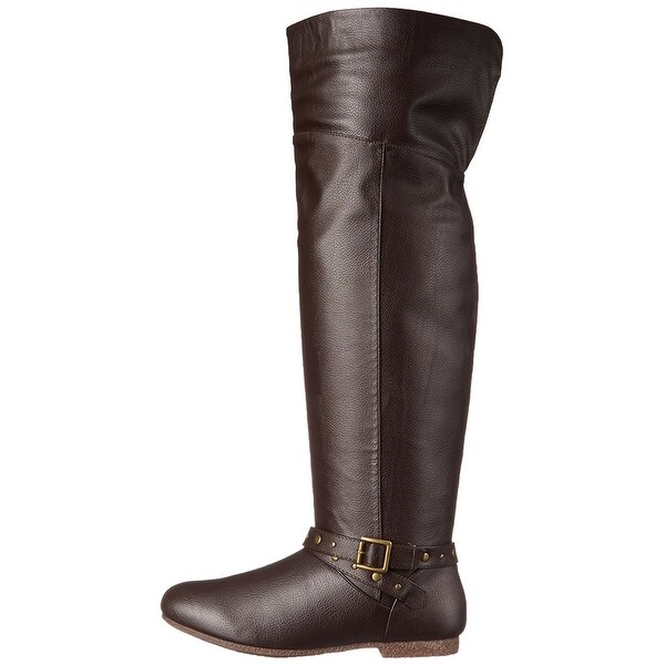 DOLCE by Mojo Moxy Womens Duffy Almond Toe Knee High Fashion Boots