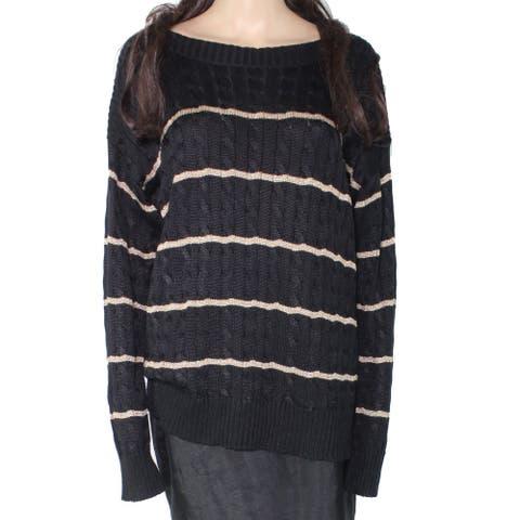 Lauren by Ralph Lauren Women's Sweater Black Size XL Stripe Pullover