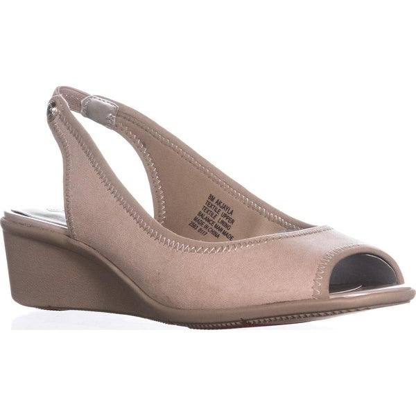 AK Anne Klein Jayla Comfort Wedge Pumps, Light Natural
