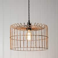 Yellow Wire Basket Pendant Lamp