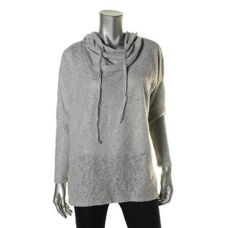 Bobeau Womens Long Sleeves Hooded Sweater - M