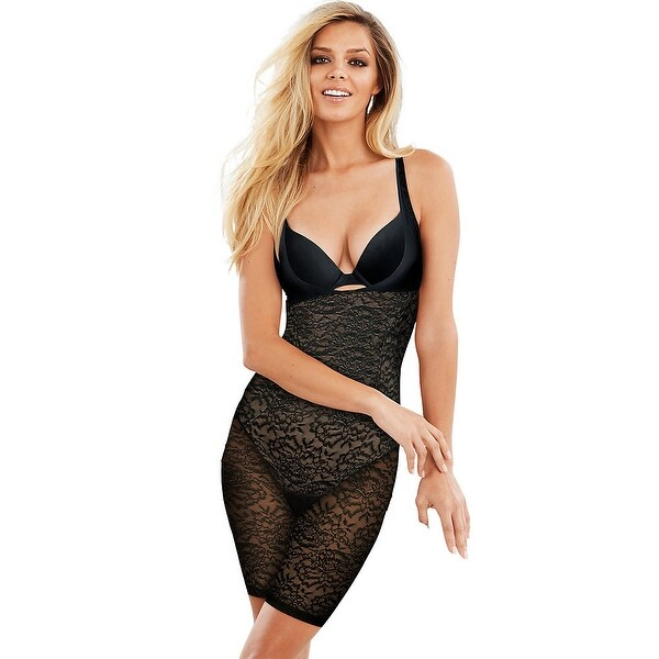 346c11beb21 Shop Maidenform Sexy Lace Firm Control WYOB Singlet - Color - Black w Body  Beige Lining - Size - 2XL - Free Shipping Today - Overstock - 22706536