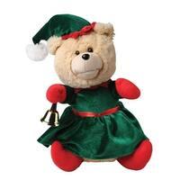 Nika International Ellie the Animated Christmas Bear - Stuffed Teddy Bear in Elf Costume Dances & Plays Holiday Music - - 12 in.