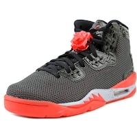 Jordan AJ Spike Forty BG Youth  Round Toe Synthetic Black Basketball Shoe