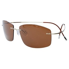 Eyekepper Rimless Titanium Frame Polarized Sunglasses Brown Lens