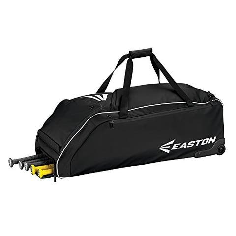 Easton E610W Wheeled Bag Baseball Bag (Black)