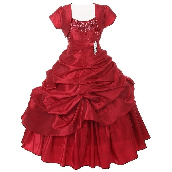 da6d57edfc53f Shop Chic Baby Red Layered Bolero Pageant Dress Set Girl 4-16 - Free  Shipping Today - Overstock - 18169419