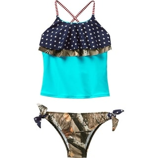 Legendary Whitetails Girls Americana Big Game Camo Swimsuit