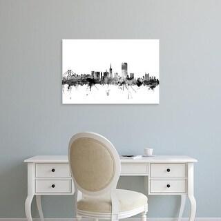 Easy Art Prints Michael Tompsett's 'San Francisco California Skyline' Premium Canvas Art