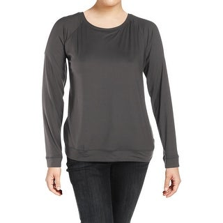 Bobeau Womens Pullover Top Cold Shoulder Long Sleeve