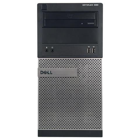 Dell OptiPlex 390 Computer Tower Intel Core I5 2400 3.1G 4GB DDR3 250G Windows 10 Pro 1 Year Warranty (Refurbished) - black