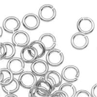 Silver Plated JUMPLOCK Jump Rings 4mm Diameter 20 Gauge Thick (100)