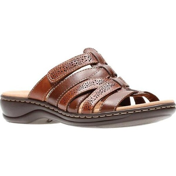 6240e5e55ea Shop Clarks Women s Leisa Field Slide Brown Multi Full Grain Leather ...
