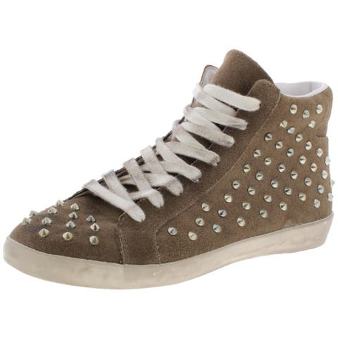 Steve Madden Womens Twynkle Fashion Sneakers Suede Studded