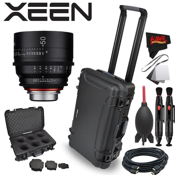 Rokinon Xeen 50mm T1.5 Lens for PL Mount with Rokinon Hardshell Carrying Case - black