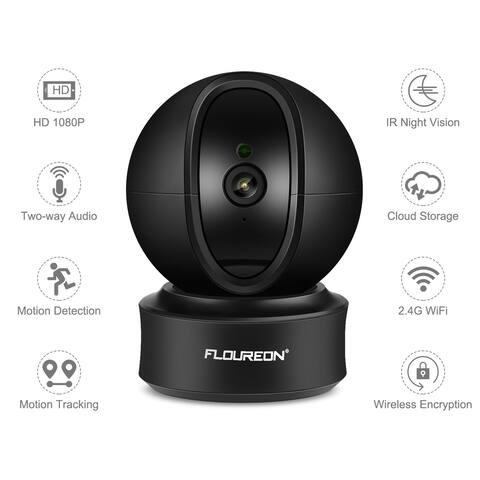 FLOUREON 1080P 2.0 MP WIFI Automatic tracking 360° 3D Built-in Microphone Wireless Security Camera