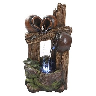 RAVELLO CASCADING URNS LED FOUNTAIN DESIGN TOSCANO fountain patio led lights